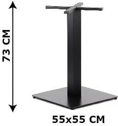 Podstawa stolika SH-5002-7/B, 55x55 cm (stelaż stolika), kolor czarny