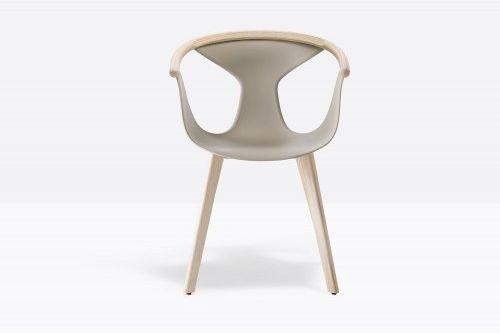 Pedrali Krzesło Fox 3725 BI Biały, Jasne wykończenie
