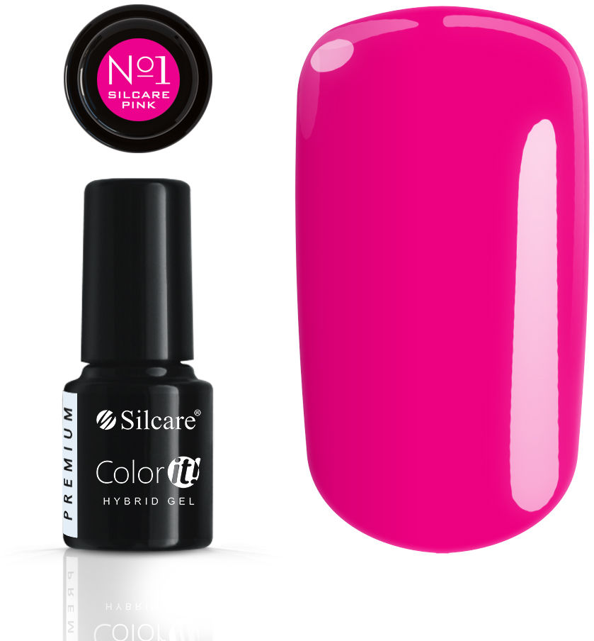 Color IT Premium Lakier Hybrydowy - Pink No. 1 Magenta 6 g