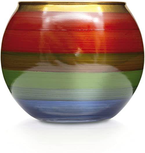 Angela - Neue Wiener Werkstätte Szklany wazon ręcznie malowany, pozłacany, szkło, kolorowy, 11 cm