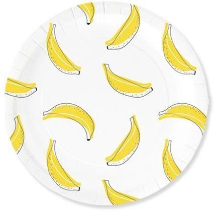 Talerzyki papierowe Banana party 18cm 6 sztuk 511001
