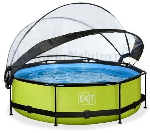 Basen Exit Lime okrągły 300 cm składany dach kopuła + pompa filtrująca