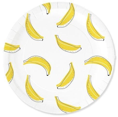 Talerzyki papierowe Banana party 23cm 6 sztuk 511000