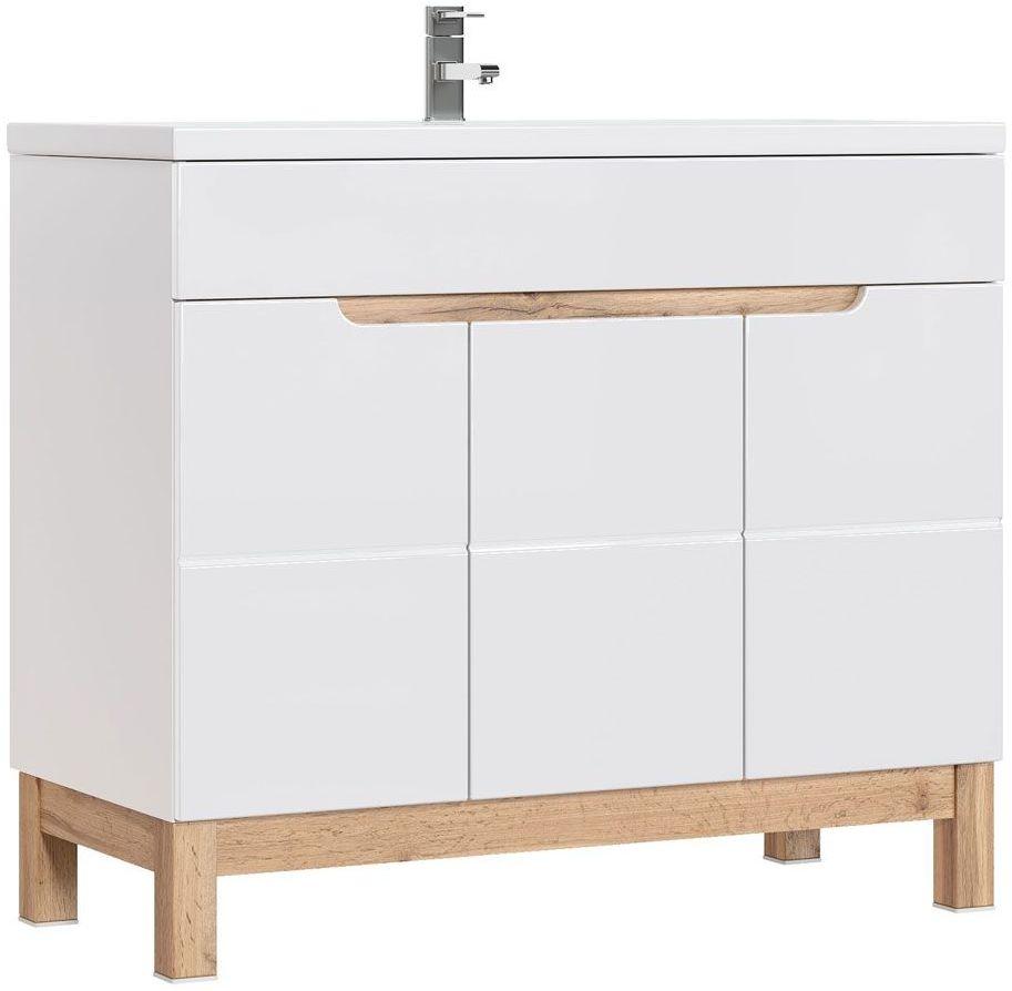 Szafka lazienkowa pod umywalkę Marsylia 8X - Biały połysk
