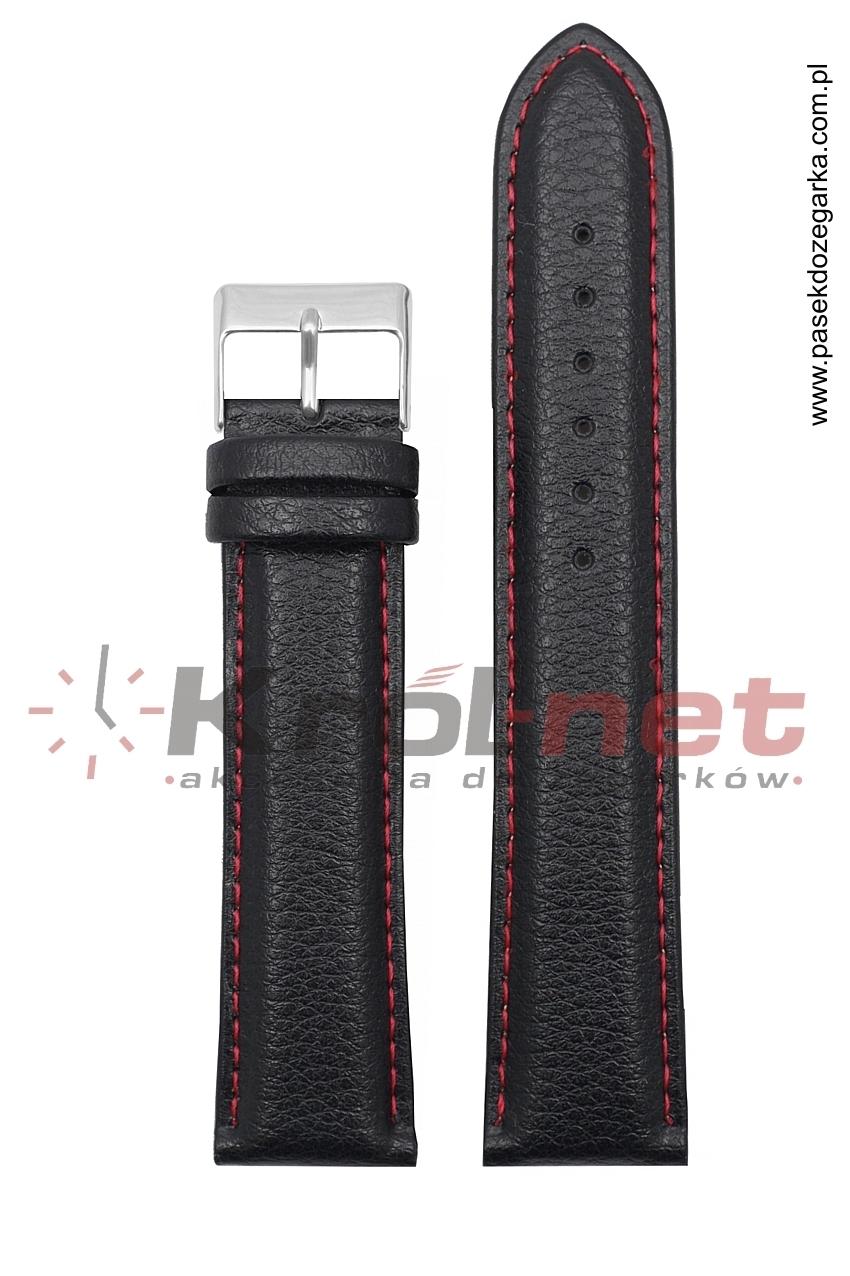 Pasek TK123/CZ/22XL - czarny long, czerwone nici