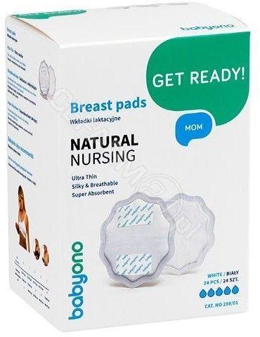 BabyOno Wkładki laktacyjne Natural Nursing 298/01 24szt.