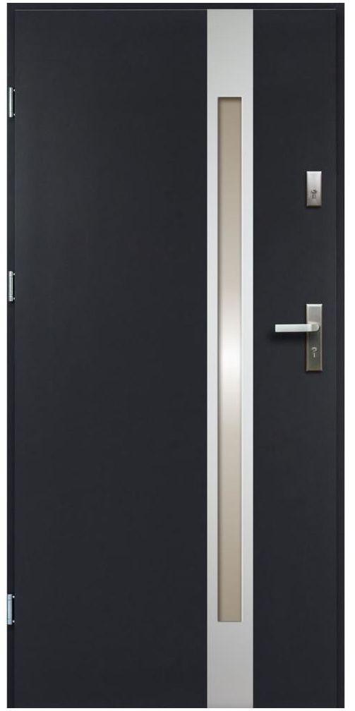 Drzwi wejściowe TEMIDAS Antracyt 90 Lewe