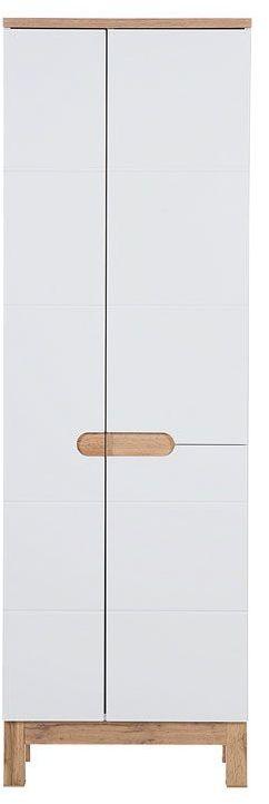 Szafka łazienkowa z miejscem na mopa Marsylia 9X - Biały połysk
