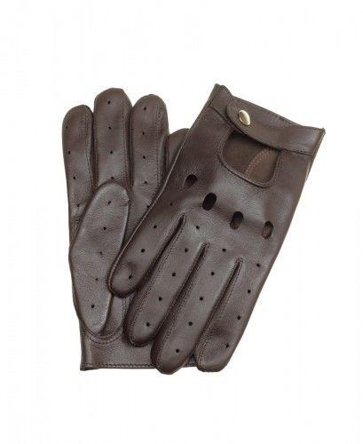 Brązowe rękawiczki samochodowe do smartfona, rękawiczki touch screen