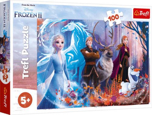 Trefl Puzzle 100 elementów Magia Kraina Lodu 2 Trefl 5542-uniw