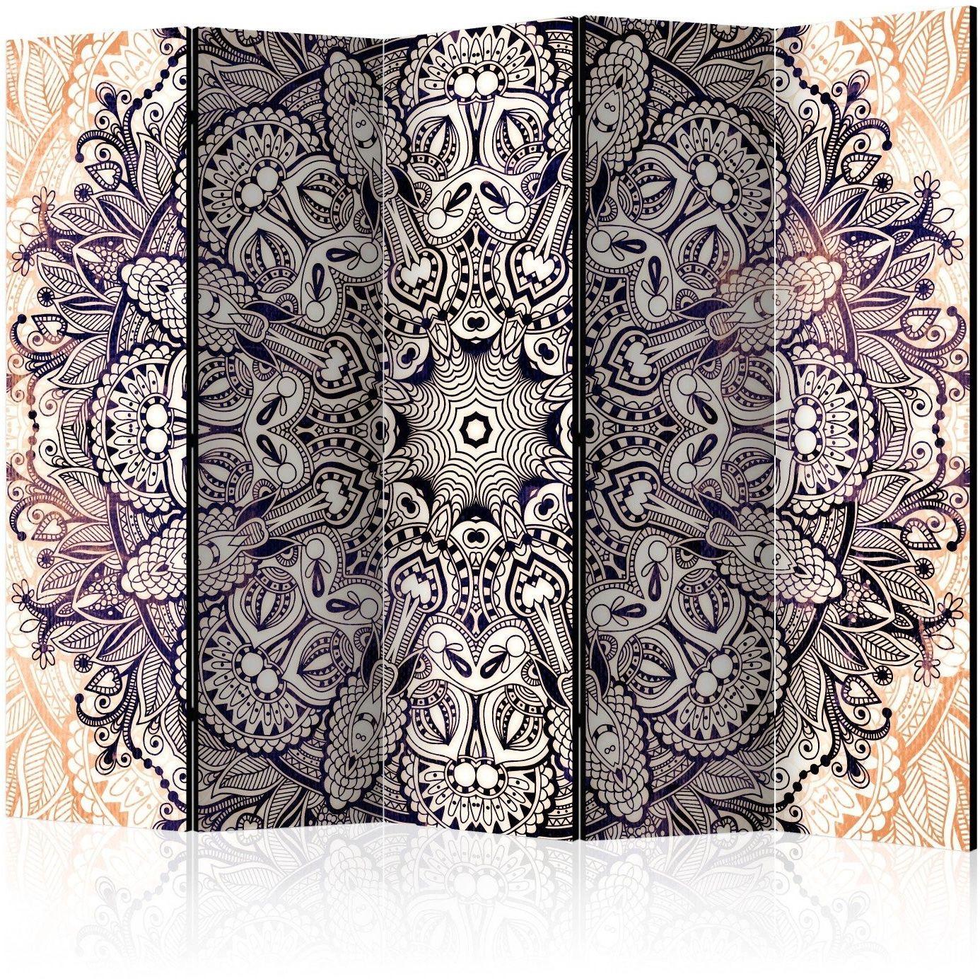Parawan 5-częściowy - orientalny kunszt ii [room dividers]