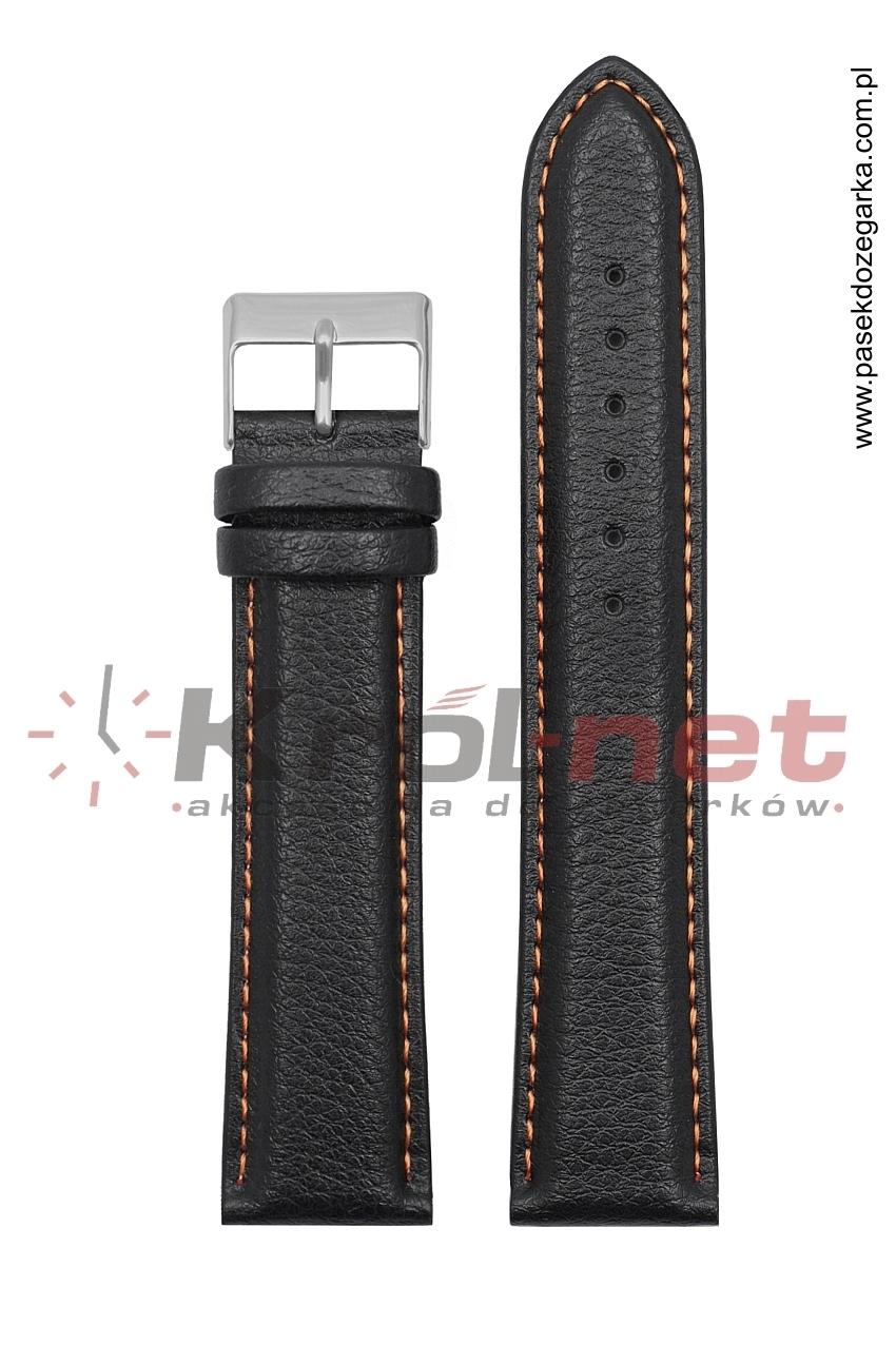 Pasek TK123/POM/22XL - czarny long, pomarańczowe nici