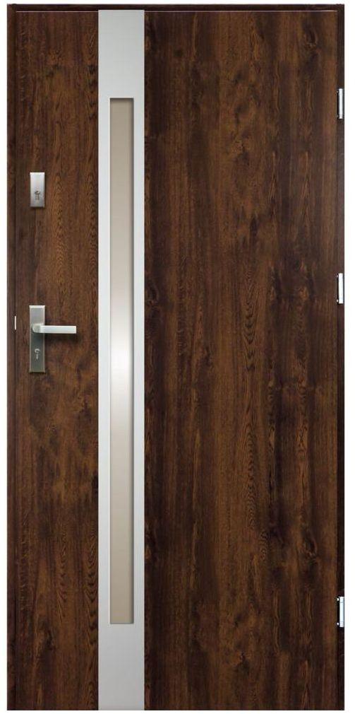 Drzwi wejściowe TEMIDAS Orzech 90 Prawe
