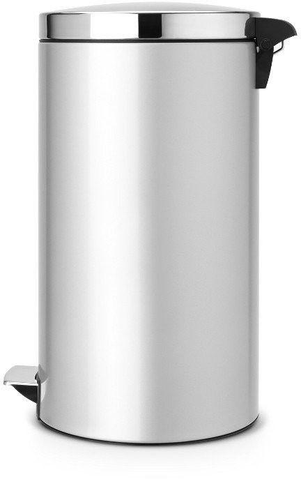 Brabantia - kosz pedałowy silent - wiaderko plastikowe - 45l - metaliczny szary