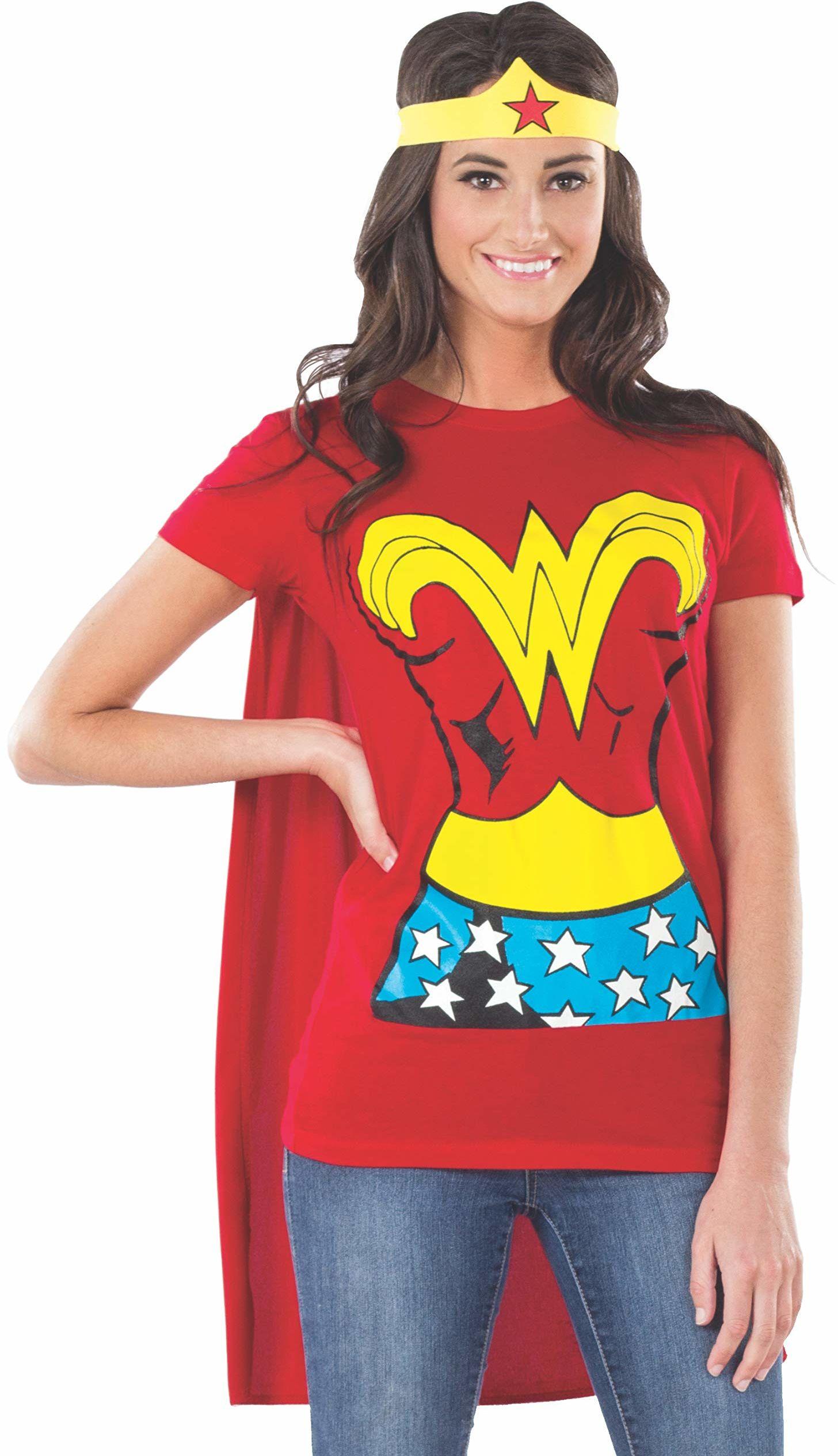 Rubie''s Official Ladies Wonder Woman T-Shirt zestaw, kostium dla dorosłych - mały
