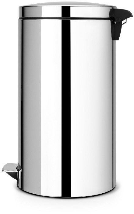 Brabantia - kosz pedałowy silent - wiaderko plastikowe - 45l - stal polerowana