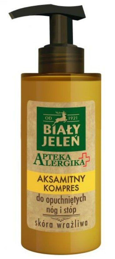 Biały Jeleń Apteka Alergika Aksamitny kompres do opuchniętych nóg i stóp 150ml
