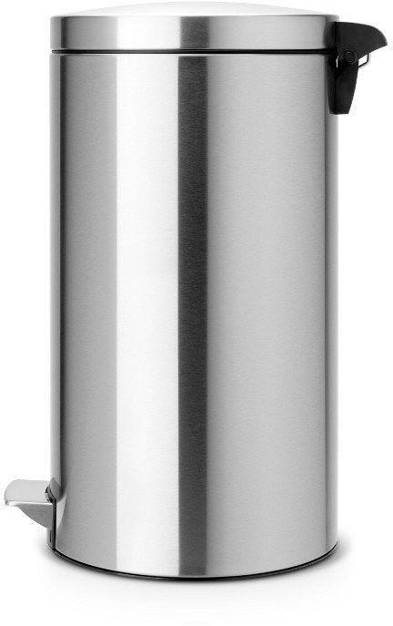 Brabantia - kosz pedałowy silent - wiaderko plastikowe - 45l - stal matowa fpp