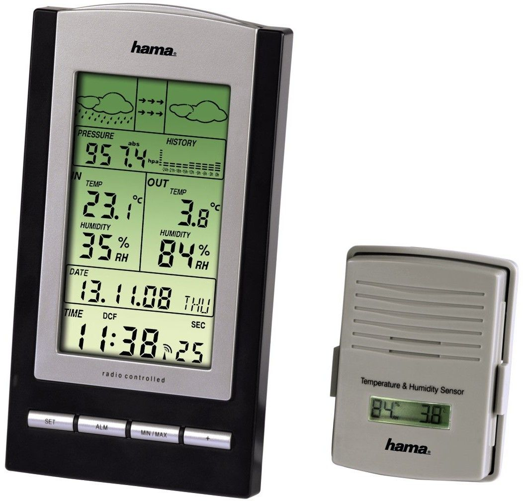 Stacja pogody Hama EWS-800 Higrometr Bezprzewodowa