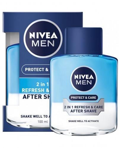 Nivea Men Protect & Care woda po goleniu 2w1 odświeżanie i ochrona 100 ml