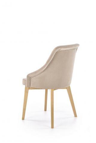 Krzesło TOLEDO 2 beżowe dąb miodowy tapicerowane  KUP TERAZ - OTRZYMAJ RABAT