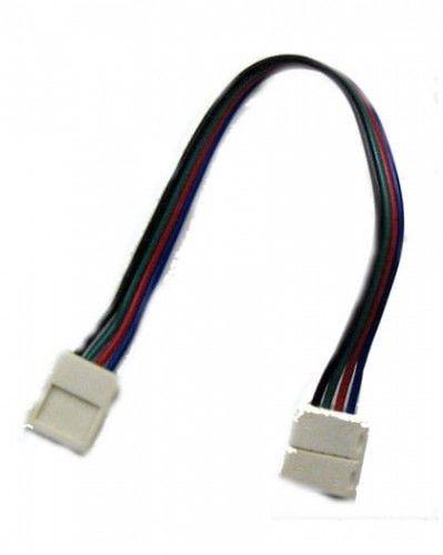 Złączka CLICK podwójna RGB 10mm + przewód