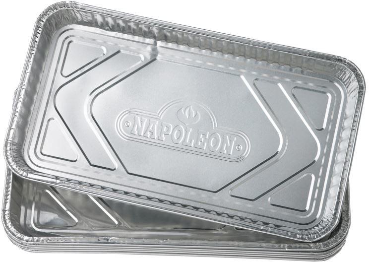 Długa tacka aluminiowa Napoleon  na tłuszcz 5szt.