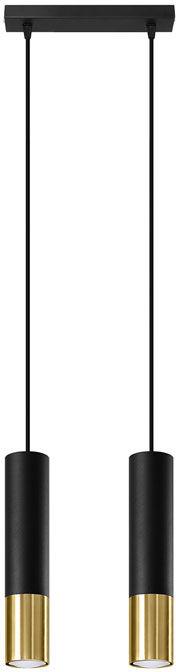 Czarno-złota lampa wisząca na stół - EXX245-Loper