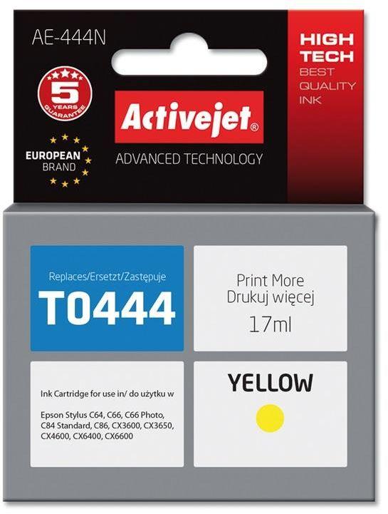 Tusz Activejet AE-444N (zamiennik Epson T0444; Supreme; 17 ml; żółty)
