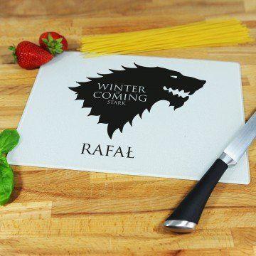 Winter is Coming Stark - deska do krojenia