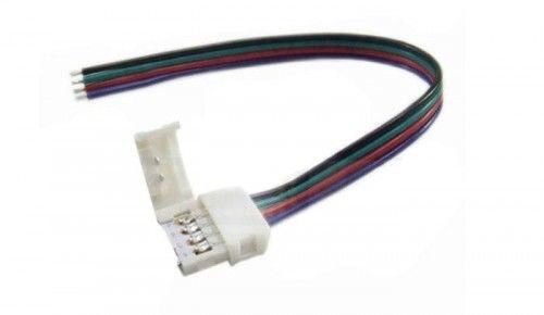 Złączka CLICK pojedyńcza RGB 10mm + przewód