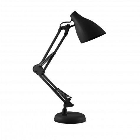 DIAN lampa biurkowa. 60W stalowa, czarna