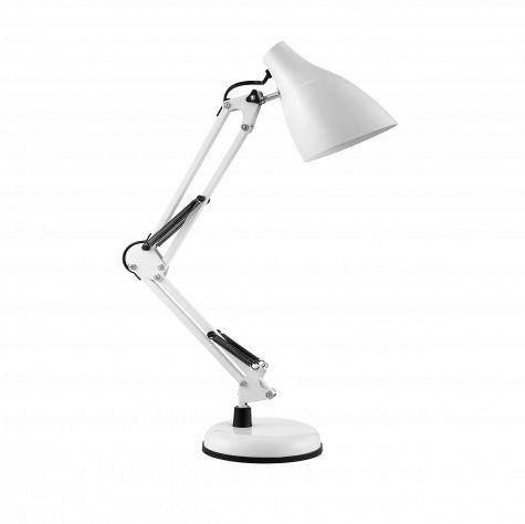 DIAN lampa biurkowa. 60W stalowa, biała
