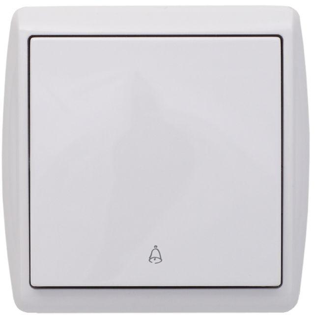 KOS1 Przycisk /dzwonek/ biały 110404