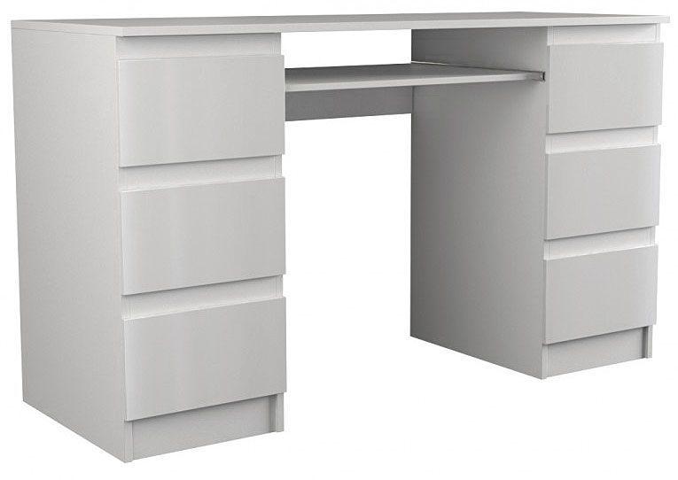 Lakierowane biurko Liner 3X - biały połysk