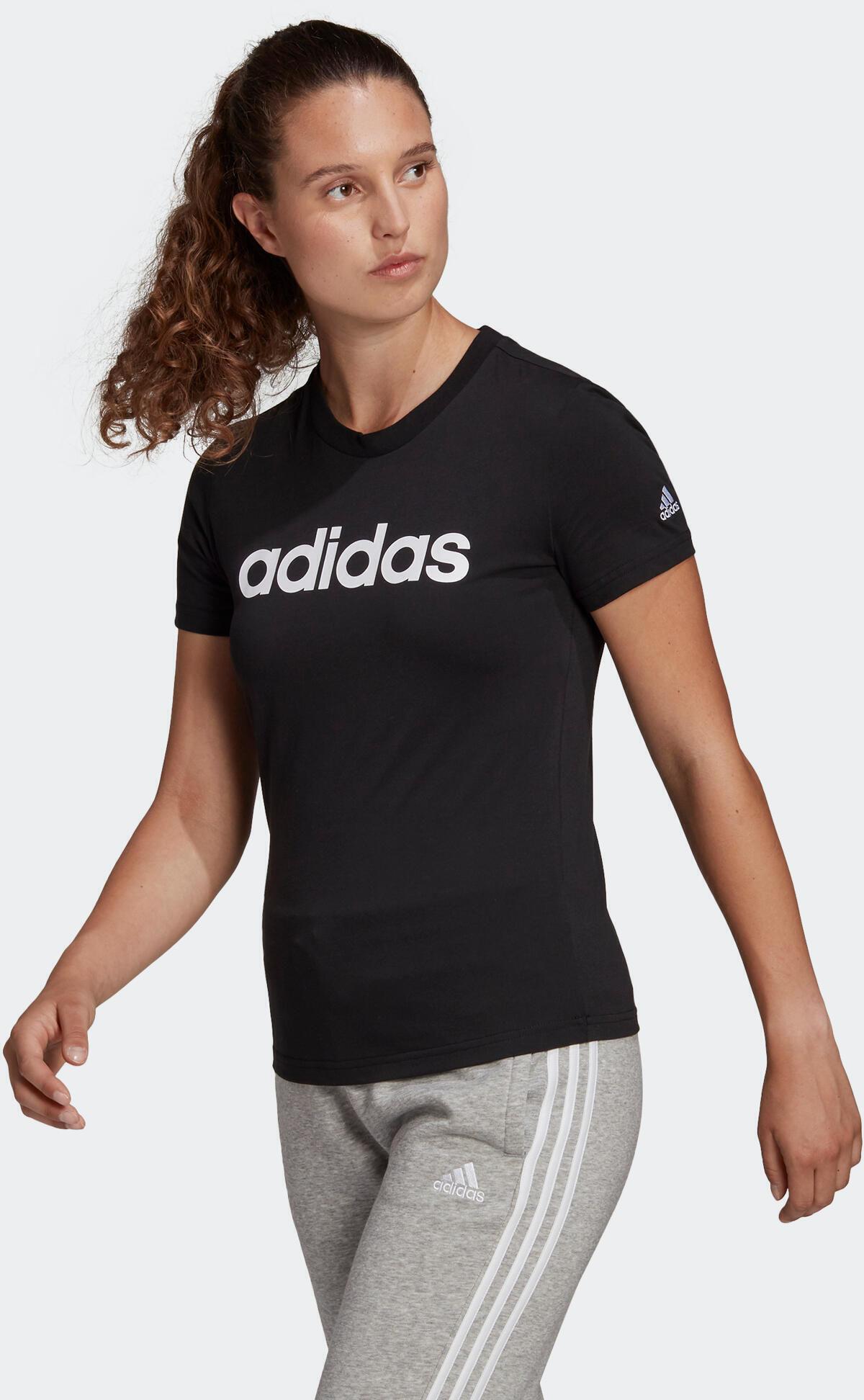 Koszulka z krótkim rękawem damska Adidas Gym & Pilates