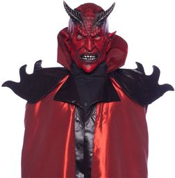 Folat 23825 maska na rogi diabła lateks, dorośli, czerwona