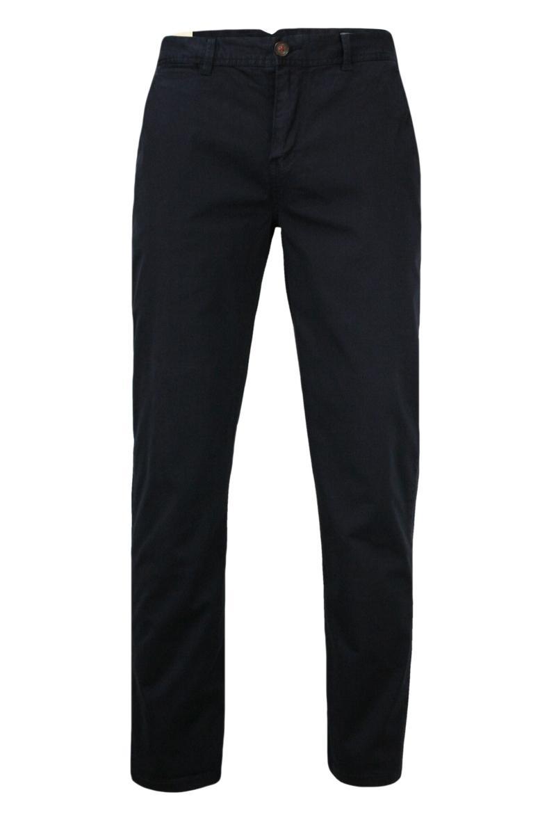 Bawełniane, Elastyczne Spodnie Męskie, CHINOS, Zwężane Nogawki, Granatowe SPCHIAO15M101darkblue