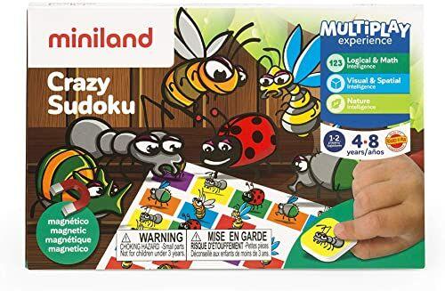 Miniland 45200 On The Go Crazy Sudoku, wielokolorowe