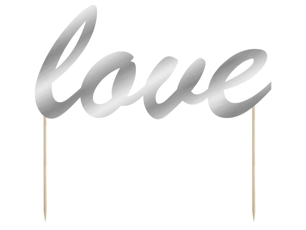 Topper na tort Love - 15 cm