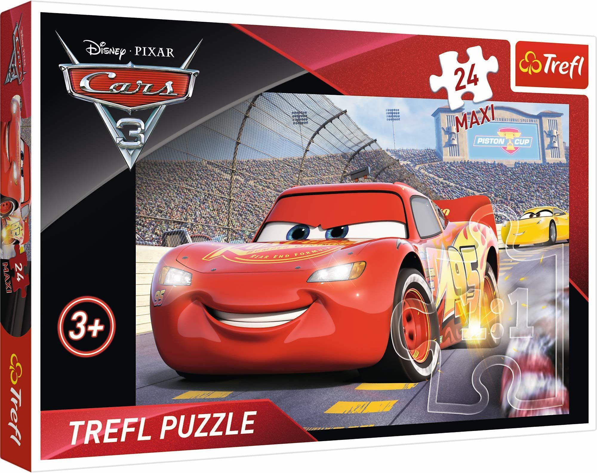 Trefl Mistrz Puzzle 24 Maxi Cars o Wysokiej Jakości Nadruku dla Dzieci od 3 lat
