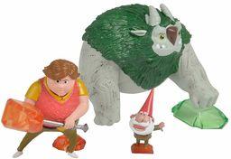 Simba 109211001 Trolljäger 3-częściowy zestaw figurek z Toby, Argh i GNOME, wielokolorowy