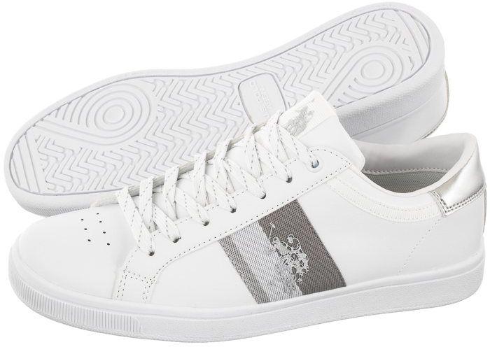 Sneakersy U.S. Polo Assn. Jarew1 Club-White-Sil JAREW4178S9/Y1 (US76-a)