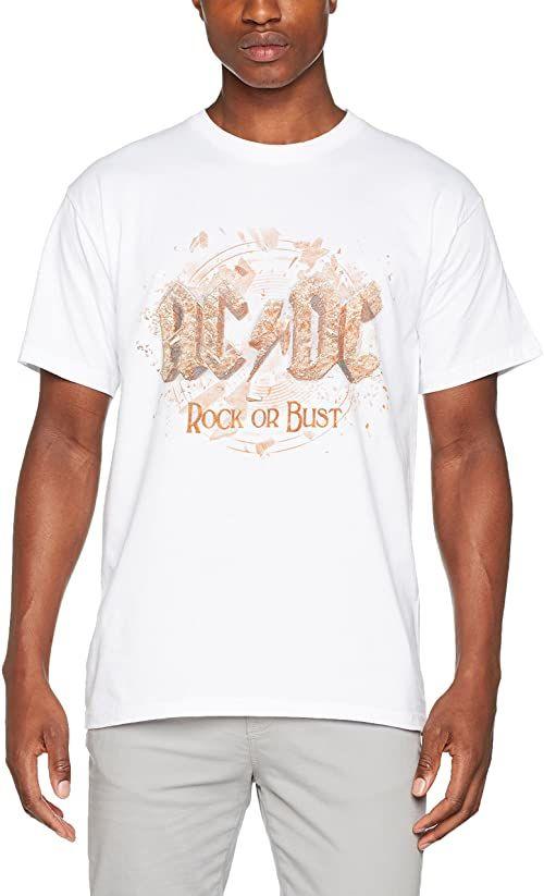 AC/DC Męska koszulka Rock Or Bust biały biały M