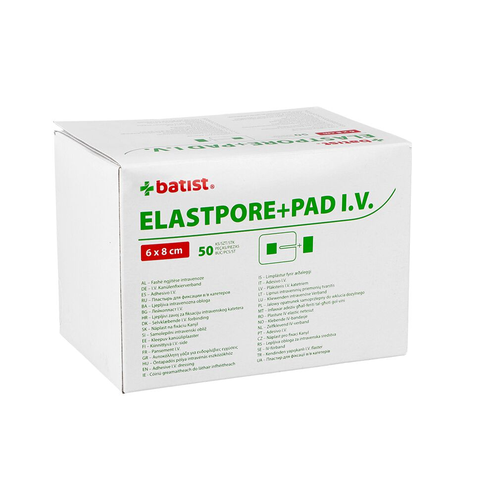 Opatrunek do wkłucia dożylnego Elastopore + PAD I.V. (Batist)