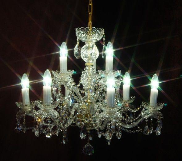Żyrandol kryształowy 9-ramienny - Elite Bohemia
