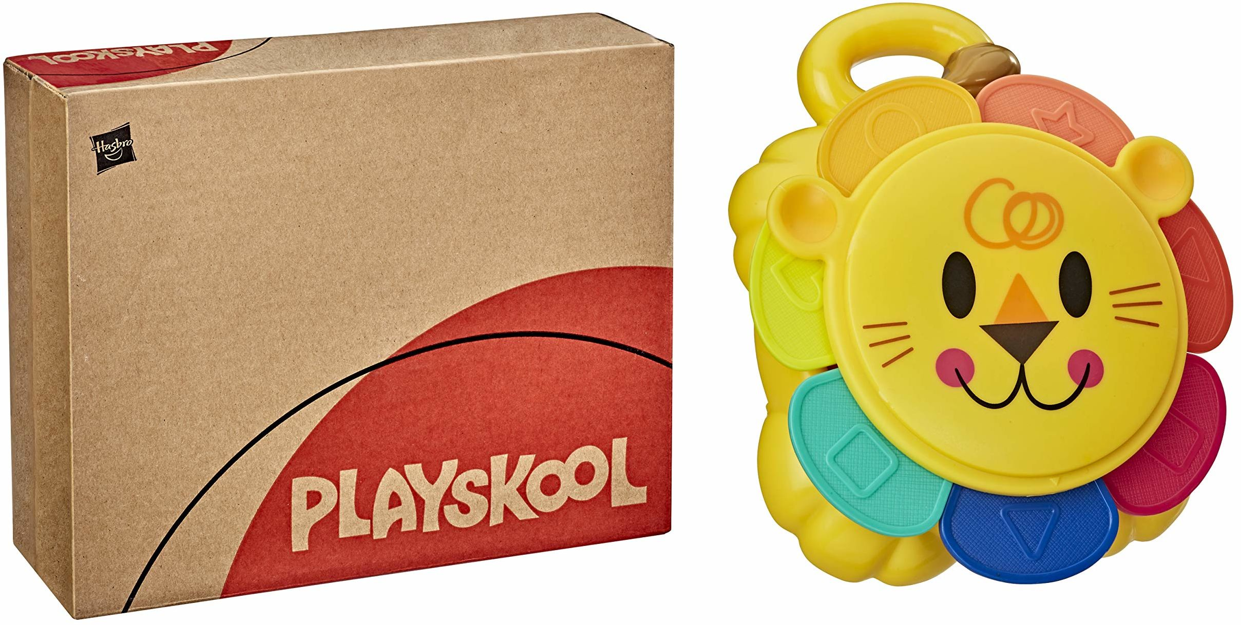Playskool Zabawa do układania w stos lw, zabawka dla niemowląt i małych dzieci od 9 miesięcy z 7 częściami, łatwe przechowywanie (Amazon Exclusive)