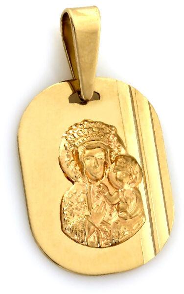Złoty medalik 333 w kształcie owalu z Matką Boską 0,76g