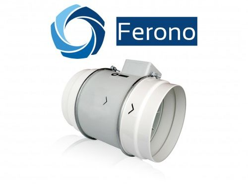 Wentylator kanałowy, osiowy, plastikowy 200mm, 840 m3/h (FKP200)
