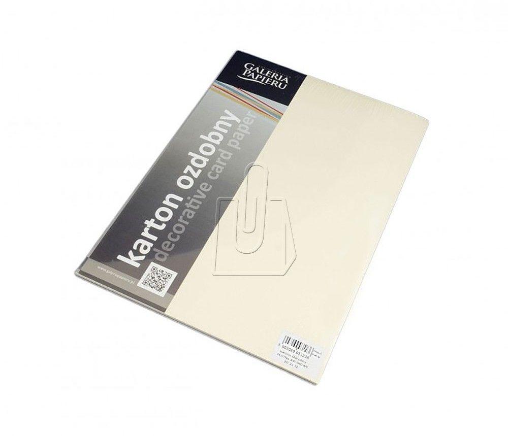 Papier ozdobny ARGO A4 230g Płótno Kremowy 20 Arkuszy /202102/